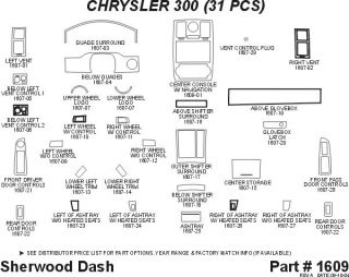 2005, 2006, 2007 Chrysler 300 Wood Dash Kits   Sherwood Innovations 1609 CF   Sherwood Innovations Dash Kits