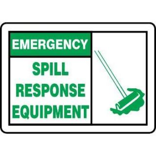 """Emergency Spill Response Equipment"" Graphic Alert Sign"