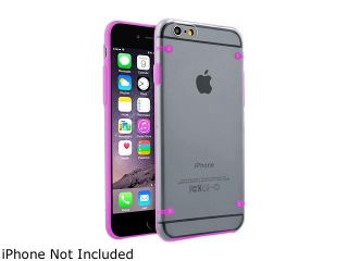 Insten Clear/Hot Pink TPU Rubber Bumper Snap in Case Cover for Apple iPhone 6 Plus (5.5 inch) 1963887