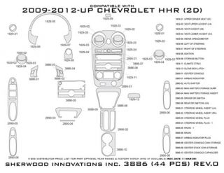 2011 Chevy HHR Wood Dash Kits   Sherwood Innovations 3886 N50   Sherwood Innovations Dash Kits