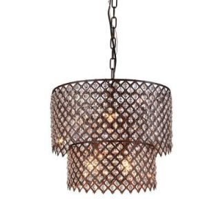 Bernadette 8 Light Antique Bronze Indoor Crystal Chandelier RL8067