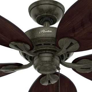 Hunter 5409 Bayview Damp Outdoor Rated Ceiling Fan   Blades Included