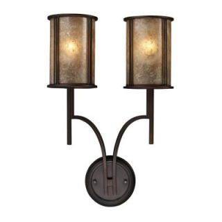 Titan Lighting Barringer 2 Light Aged Bronze Sconce TN 7131