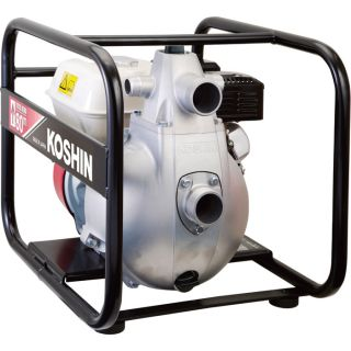 Koshin Self-Priming High-Pressure Water Pump — 6780 GPH, 2in. and 1in. Ports, Honda GX160 Engine, Model# SERH-50V  Engine Driven High Pressure Pumps