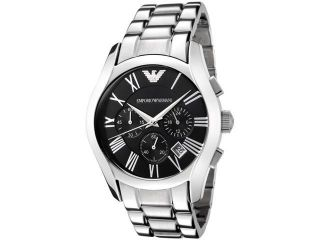 Emporio Armani Men's Classic Chronograph Black Dial Stainless Steel