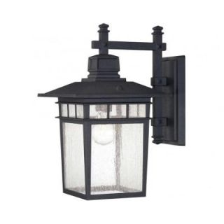 Illumine Garcia 1 Light Textured Black Outdoor Wall Mount Lantern CLI SH0239809