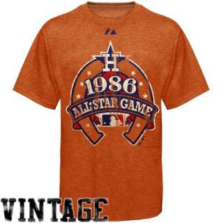 Majestic 1986 MLB All Star Game Orange Cooperstown Vintage Heathered T shirt