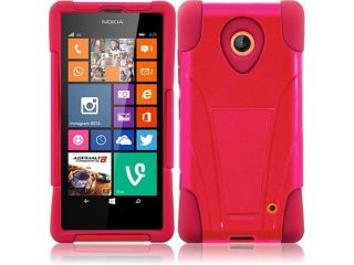 HRW For Nokia Lumia 635 T Stand Cover Case   Red + Red