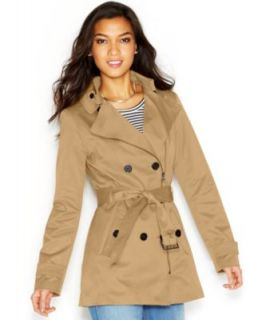 MICHAEL Michael Kors Hooded Belted Jacket   Coats   Women