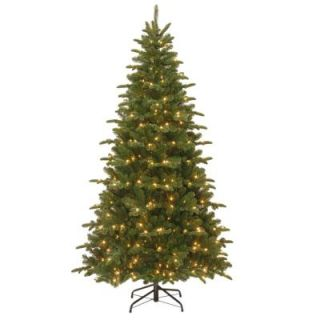 National Tree Company 7 1/2 ft. Feel Real Everest Fir Medium Hinged Artificial Christmas Tree with 450 Clear Lights PEVG3 311 75