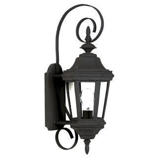 Kenroy Home 16312BL Estate Outdoor Small Wall Lantern   22H in. Black