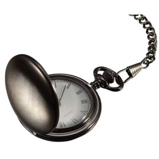 Visol Scipio Brushed Gun Metal Japanese Quartz Pocket Watch   17710004
