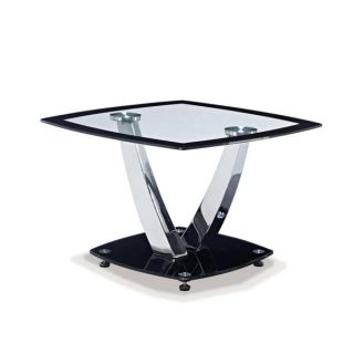 Black Glass Table   17080705