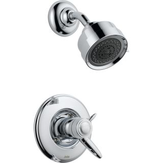 Delta Grail Chrome 1 Handle Shower Faucet Trim Kit with Multi Function Showerhead
