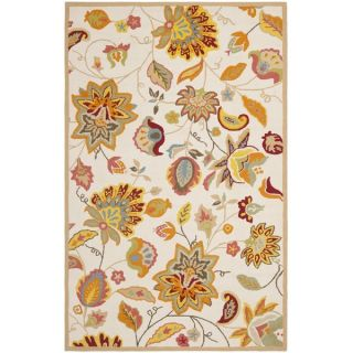 Safavieh Indoor/ Outdoor Four Seasons Ivory/ Yellow Rug (4 x 6